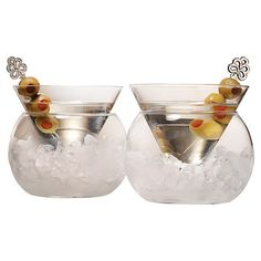 Set+of+two+mouth-blown+martini+glasses+with+a+stemless+design+and+ice+chamber.++++++++Product:+Set+of+2+martini+glasses++++