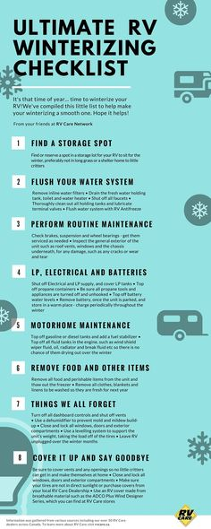 Ultimate RV Winterizing Guide by your friends at http://RVcare.ca.