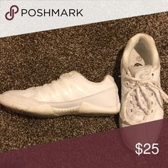 92c8095e46 Shop Women s White size 7 Athletic Shoes at a discounted price at Poshmark.  Description  all white chassé brand cheer shoes