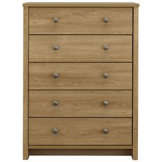 Clovelly 5 Drawer Large Chest Rustic Oak