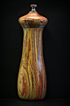 Exotic Hardwood Pepper Mill by WorkbenchCo on Etsy.  $110.00
