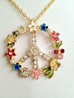 Peace Necklace by joytoyou41 on Etsy, $30.00
