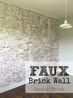 How to: Faux Brick Wall 2019 How to create a realistic Faux Brick wall out of paneling. The post How to: Faux Brick Wall 2019 appeared first on House ideas. Brick Paneling, Paneling Ideas, Faux Brick Wall Panels, Brick Accent Walls, Faux Walls, Exposed Brick Walls, Fake Brick Walls, Faux Wood Wall, Faux Stone Walls