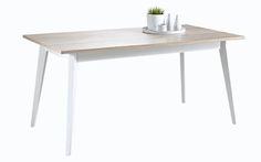 Esstisch Lena passend zum Möbelprogramm Lena 1 x Tisch mit weißen Tischbeinen und Tischplatte in Holzoptik Farbe: Holz Weiß Maße: B/H/T ca. 160,0...