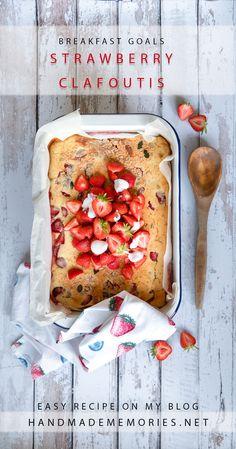 XXL Pancake, Auflauf oder Kuchen? Egal - das einfache Rezept kommt mit wenigen Zutaten aus und schmeckt einfach köstlich. Das Rezept gibt´s am Blog. Banana Bread, Sweet Treats, Strawberry, Easy Meals, About Me Blog, Breakfast, Desserts, Recipes, Food
