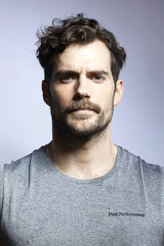 Henry Cavill World Mustache Men, Mustache Styles, Guy With Mustache, Curly Hair Cuts, Curly Hair Styles, Mens Health Uk, Moustaches, Hair And Beard Styles, Men's Grooming