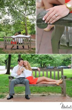 Engagement session in Independence Park in Philadelphia, PA.  Photos by Michael's Photography in Bensalem, PA