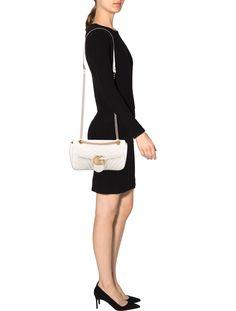 2017 GG Marmont Matelassé Shoulder Bag