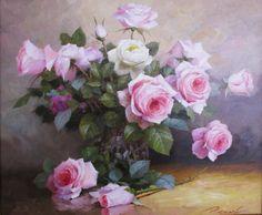 Gallery.ru / Foto # 1 - Ainda vida elegante com rosas e peônias, Yuri Nikolayev - Anneta2012