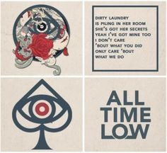 All Time Low ~ Dirty Laundry All Time Low Lyrics, Good Times Lyrics, All Time Low Tattoo, Emo Bands, Music Bands, Last Young Renegade, Band Wallpapers, Phone Wallpapers, All 4 One