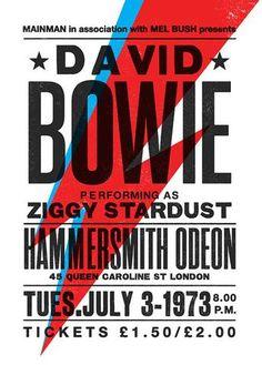 David Bowie - Hammersmith Odeon 1973 - Mini Print