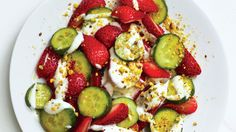 Strawberries and cream…and cardamom. The cooling spice and cucumbers give berries an element of intrigue.