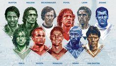 CR7, Iniesta e Buffon são eleitos para  a seleção de todos os tempos da Euro #globoesporte