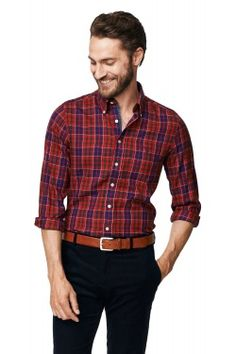 Hillsdale Twill Check Fitted Button Down Shirt Iron Shirt, Well Dressed, Shirt Outfit, Men's Fashion, Button Down Shirt, Dressing, Men Casual, Plaid, Formal