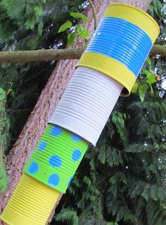 Learn To Grow: Tin Can Wind Chimes! Reusing tin cans food cans