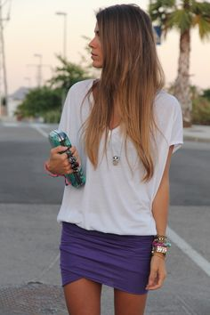 NEED this purple skirt and ALL of the accessories. PERFECT