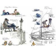 Illustration Art, Illustrations, Sketchbook Pages, Sketchbooks, Sailing Ships, Sketching, Journals, Boat, Watercolor