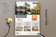 Premium Real Estate Flyer Template is helpful for a realtor, real estate agent to promote real estate business or interior design business. Real Estate Ads, Real Estate Office, Real Estate Flyers, Real Estate Business, Selling Real Estate, Business Flyer, Real Estate Marketing, Real Estate Templates, Real Estate Flyer Template