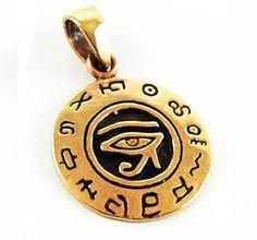 Bronze Eye of Horus Pendant Egyptian Symbol Occult Thelema Crowley | eBay