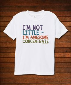 Love this Biased, Baby White 'Awesome Concentrate' Tee - Toddler by Biased, Baby on #zulily! #zulilyfinds