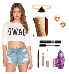 """Summer swag"" by aranzabiebs ❤ liked on Polyvore featuring Clayton, Kate Spade, Stila and Justin Bieber"