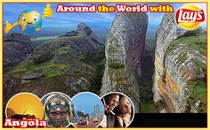 Around the World with Lays South Africa: Next I head off to Angola  Angola, officially the Republic of Angola, is a country in Southern Africa bordered by Namibia on the south, the Democratic Republic of the Congo on the north, and Zambia on the east; its west coast is on the Atlantic Ocean and Luanda is its capital city. Angola have some stunning beaches which is the perfect place to sit back, relax & enjoy a packet of yummy #Lays chips
