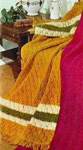 NEW! Lacy Mohair Afghan knit pattern from Your Favorite Afghans to Knit & Crochet, Volume No. 45, from 1966.