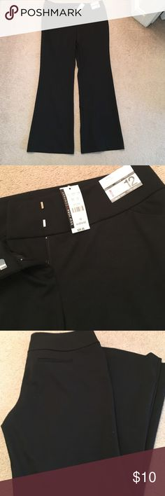 NWT black pants NWT black pants size 12 length - average. Very comfortable! New York & Company Pants Boot Cut & Flare