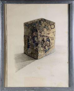 """CESAR (César Baldaccini dit)(1921-1998) """"Portrait de compression"""" lithographie signée et datée 76 en bas à droite numérotée 80/90 traces de plis encadrée sous verre à vue: H 86 L 62 cm - Art Richelieu - 27/11/2014"""