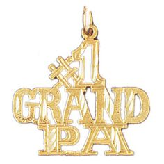 14K GOLD SAYING CHARM - #1 GRANDPA #10040