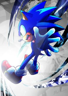 Sonic Into World of Graphic by Sonic And Amy, Sonic And Shadow, Sonic Fan Art, The Sonic, Sonic Dash, Sonic The Hedgehog, Shadow The Hedgehog, Sonic Fan Characters, Video Game Characters