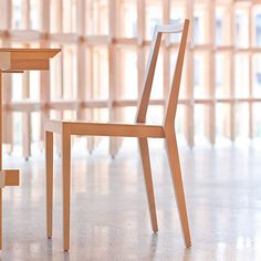 The GC Chair by Kengo Kuma will give your space an open, uncluttered feel, particularly important when entertaining large parties or when entertaining in a small space. These stackable chairs can also be easily stored when not in use.