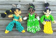 Rainbow Loom Princess Backpack Clip Loom Band key by PipandAnya