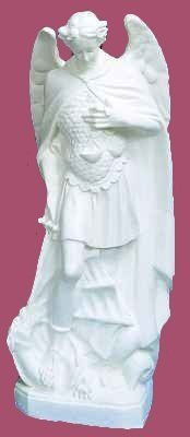 24 inch Saint Michael The Archangel - Outdoor Vinyl Statue, White Finish by HolyHub. $65.95. Saint Michael lawn and garden statue.