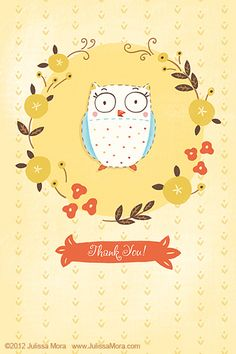 Owl Thank You By Julissa Mora