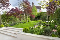 Back Garden Design, Garden Landscape Design, Garden Sitting Areas, Contemporary Garden Design, Garden Stairs, London Garden, Sloped Garden, Family Garden, Small Backyard Landscaping