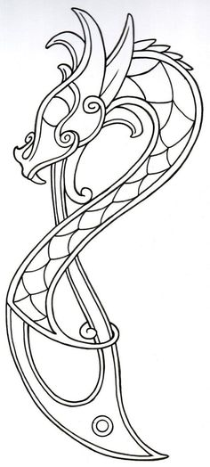 Viking Dragon Outline2 by vikingtattoo on deviantART