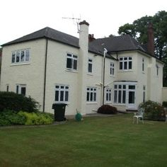 painted roughcast house after wall coatings