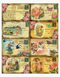shabby chic postcards
