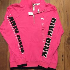 PINK VS Boyfriend Half Zip XS 100% authentic, never worn & tags attached. PINK Victoria's Secret Tops Tunics