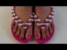 Como fazer: Chinelo Havaiana Pink - Adriana Valério - YouTube