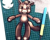 Jointed Horse Paper Doll, Instant Download