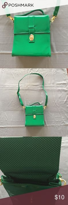 Funky Kelly green purse Never used. Perfect for spring!!! Worn cross body it hits high on my hip-I am about 5'5. Bags Crossbody Bags