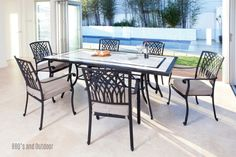 Shelta Paris Chairs with Granada Table - Outdoor Furniture Gallery   BBQ's & Outdoor
