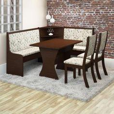 Conjunto de Mesa de Canto Top com Banco e 2 Cadeiras Kiara Chocolate e Amêndoa