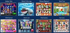 Casino games available at Slots Jackpot online casino