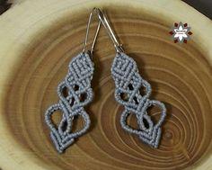 Macramotiv micro-macrame earring, knotted jewellery, DIY tutorials