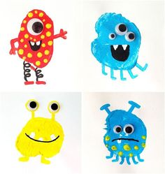 Potato Printing Monsters for everyday fun!