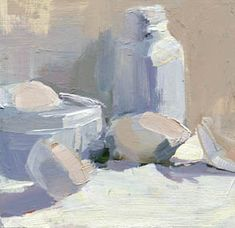 LISA DARIA'S PAINTING A DAY: #991 Shades of White