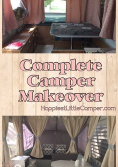 A complete pop up camper makeover! #glamper